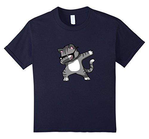 Kids Dabbing Cat Funny Shirt Dab Hip Hop Dabbing Kitten 6 - Sunglasses Deal It With Emoji