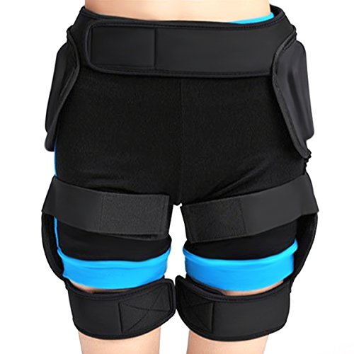 Padded short, iFeng Protective Hip Padded Ski protective Pants for Skiing, Skateboarding, Snowboard, Snowmobile and Hockey