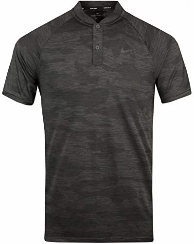 NIKE Golf TW Tiger Woods Vapor Zonal Cooling Camo Polo 932390 (Medium, Anthracite)