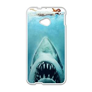 Jaws HTC One M7 Cell Phone Case White Deuxy