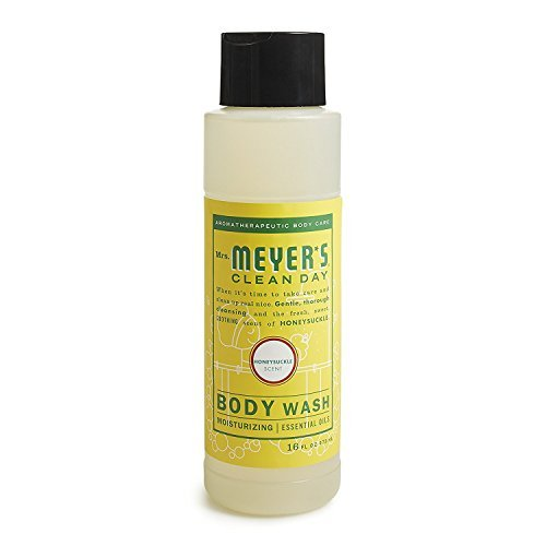 Mrs. Meyer's Body Wash,16 fl oz (Pack 2, Honeysuckle