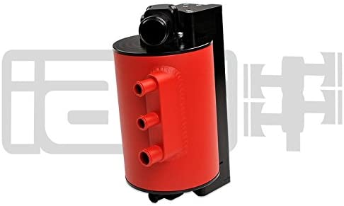 IAG Air Oil Separator Comp Series Aos for 06-07 Subaru WRX 04-07 STi Red