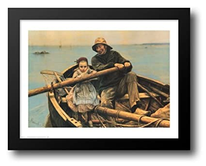Amazon Com The Helping Hand 1881 22x20 Framed Art Print By Renouf
