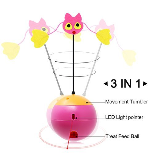 Tumbler Laser Interactive Cat Toys Balls for A Cat Kitten Toy Leakage Food Toys by Elitpet