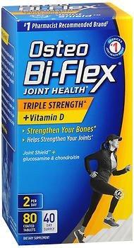 Osteo Bi-Flex Advanced Triple Strength with Vitamin D3, Caplets 80 ea (Pack of 2) ()