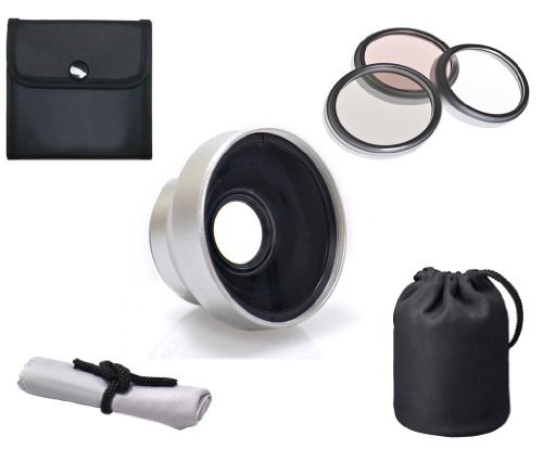 Leica D-LUX 6 High Definition 3.0x Telephoto Lens (37mm) + 3 Piece Lens Filter Kit (37mm) + Lens/Filter Adapter Ring + Nwv Direct Microfiber Cleaning Cloth by Optics Nc