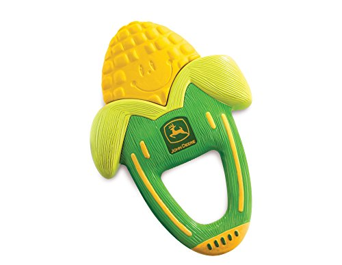 The First Years John Deere Massaging Corn Teether]()
