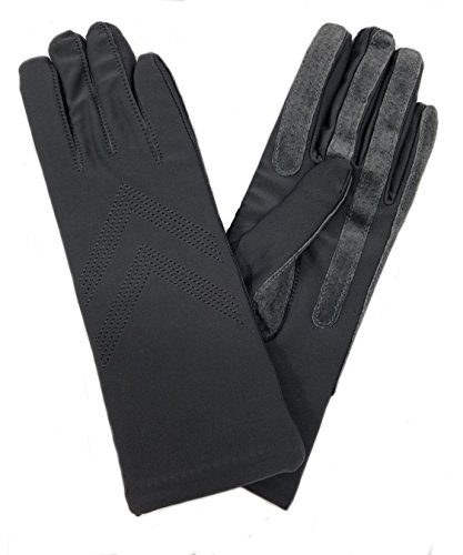 Isotoner Women's Fleece Lined Stretch Classics Gloves A56081 (One Size, Charcoal)
