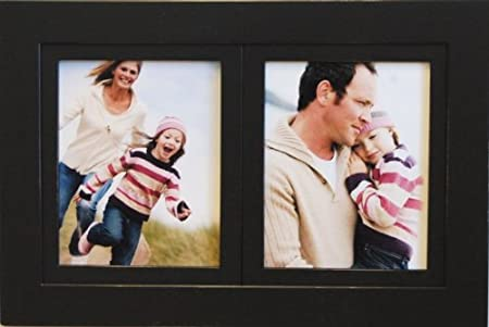 Mybarnwoodframes Pro 2 Opening 8x10 Black Wood Collage Picture Frame