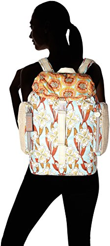 H b A Borse light Oilily Ornament T Zainetto Whoopy Cm Backpack 15x40x28 Lvz Donna X Turchese Turquoise XOxwZO