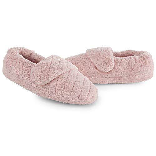 ACORN Women's Spa Wrap Slipper, Slip-on, Adjustable, Memory Foam