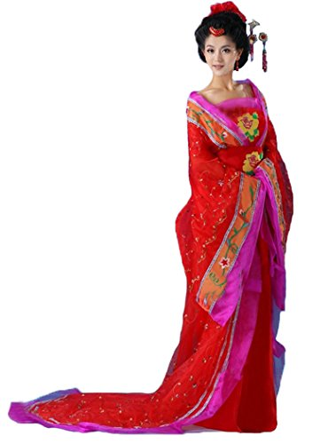 Bysun Women's Chinese Costume Stage Cosplay RedFS