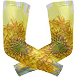 Sunflower Watercolor Painting Arm Sleeve Youth Adult Compression Elbow UV Skin Protection Sun Protection Sleeve for Cycling Basketball Baseball Driving