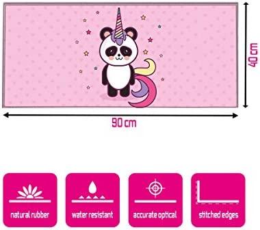 Silent Monsters Alfombrilla ratón Ordenador tamaño XXL (900 x 400 mm), Mouse Pad Grande, diseño Panda, Adecuado para ratón de Oficina y para Gaming