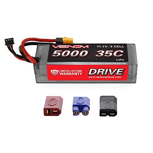 Venom 35C 3S 5000mAh 11.1V LiPo Hardcase Battery with Universal Plug 2.0 (Traxxas / Deans / EC3)