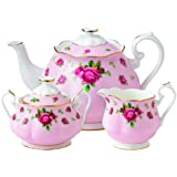 Royal Albert New Country Roses Pink Teaset, 3-Piece