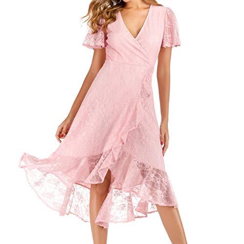 Mayunn Womens Sexy Elegant Short Sleeve V-Neck Slim Party Long Dress Long Dress