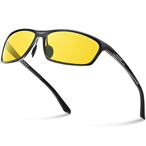 PAERDE Polarized Wayfarer Sunglasses For Men Women Retro UV400 Brand Designer Sun glasses Metal Frame PA07(Night - Glasses Try Com Tac