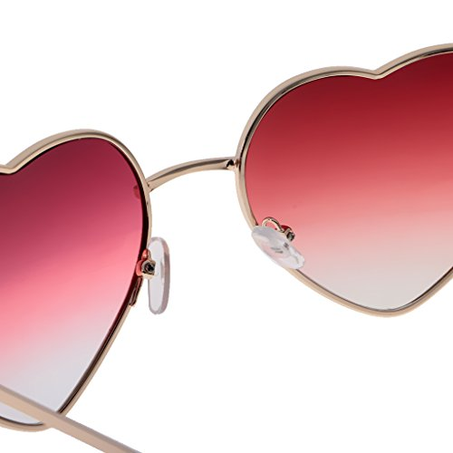 Forme Homyl Fille Cadre en Femme Lunettes Coeur de clair Cadeaux Soleil rouge wqq71B