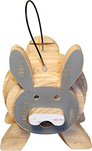Bunny Stack - WELLIVER OUTDOORS Welliver Stacks Bunny Bird House Gray & Natural