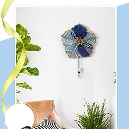 AOLIr Hanger Coat Rack Mediterranean Wrought Iron Flower Decoration Hook Wall Hanging Hook