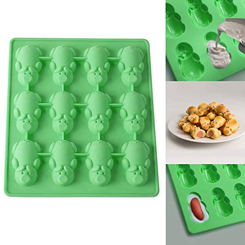aliveGOT 12 Little Pig Silicone Cake Baking Mould Non-stick Candy Jelly Molds, Chocolate Molds, Soap Molds, Silicone Baking Molds]()