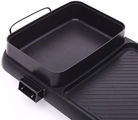 BBQ Hot Pot, antiadhésif de nettoyage intégré Double Pot Rice Cooker, Barbecue électrique électrique Hot Pot électrique de cuisson Pan Barbecue électrique hsvbkwm