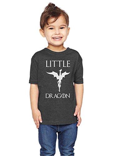 Brain Juice Tees Little Dragon Game of Thrones Unisex Toddler Shirt (2T, Vintage Smoke)