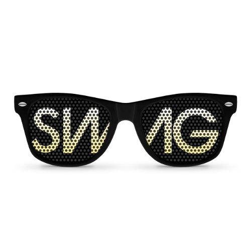SWAG Black Retro Party Sunglasses