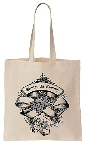 de Algodón Wolf Winter Tote Amazing Design Reutilizables Compras de Bag Is Coming Starks Bolsos qOw7aO