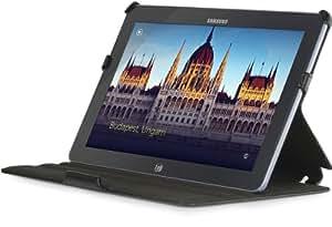 StilGut UltraSlim Case, funda con función de soporte para el original Samsung Ativ Smart PC 500 T, negro