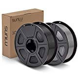 SUNLU PLA Plus Filament 1.75mm 3D Printer 3D Pens 2KG PLA+ Filament +/- 0.02 mm, Black+Grey