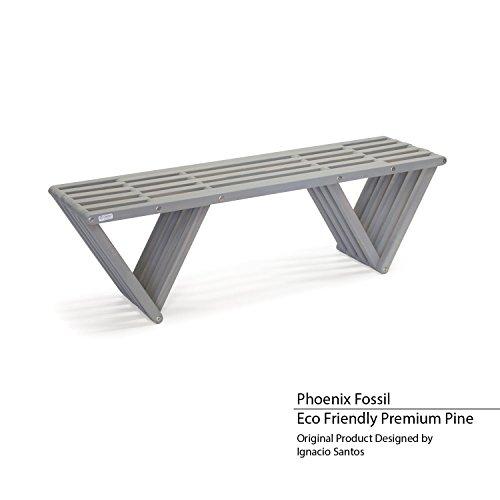GloDea XQBC60YPPF Outdoor Bench, Phoenix Fossil (Outdoor Phoenix Store)