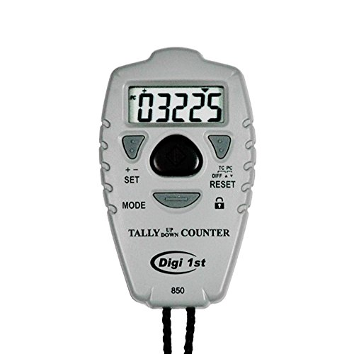 Digi 1st TC-850 Digital Count Up & Down Pitch and Tally Counter with Clock by Digi 1st