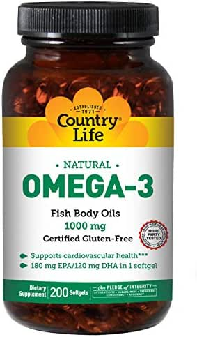 Country Life Omega-3-1000 mg - 200 Softgels