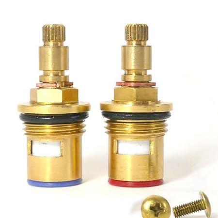 24 spline Replacement Brass ceramic disc tap valve cartridge spares ...