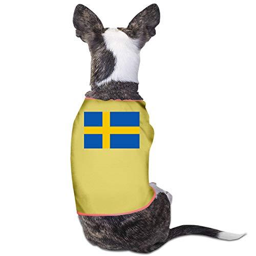 LNUO-2 Pet T-Shirt, Swedish Flag Dog Cat Shirts Costume