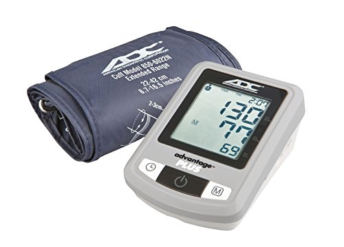ADC Advantage Plus 6022N Automatic Digital Blood Pressure Monitor with Storage Case, BHS AA Rated, Wide-Range Adult Navy Upper-Arm BP Cuff (22 Arms Advantage)