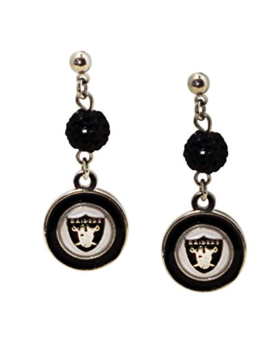 NFL Oakland Raiders Logo Shambala Post Earrings