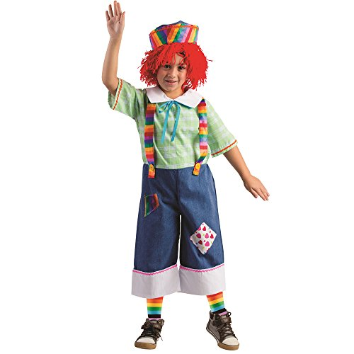 Rainbow Rag Boy Costume - Size Toddler 4 (Raggady Ann Costume)