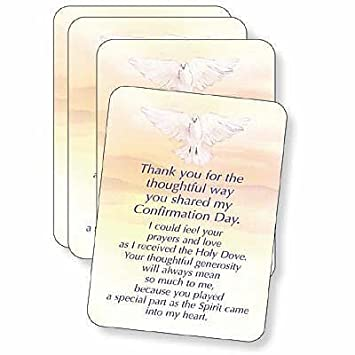 amazon com abbey press confirmation thank you cards package of 25