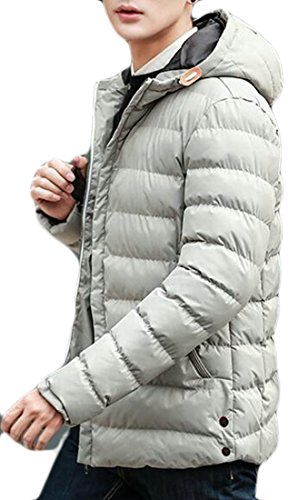 Brd Jacket Grey Warm Hoodie Warm Winter UK Down Mens Thicken Padded Hot BPCwdqpB