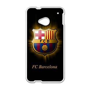 Happy FC Barcelona Pattern Fashion Comstom Plastic case cover For HTC One M7