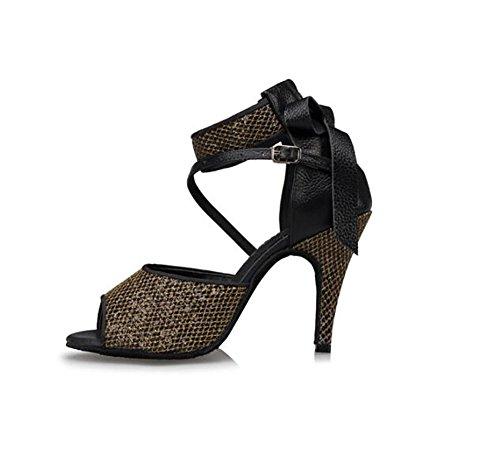 Dance Latin Square Women's Soft Shoes Shoes Ballroom Dance Shoes Dance Bottom GUOSHIJITUAN High A Heels qxp7Awn55