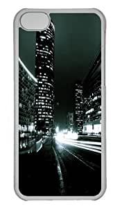 iPhone 5S Case and Cover -City Nights Custom PC Hard Case Cover for iPhone 5/5S Transparent