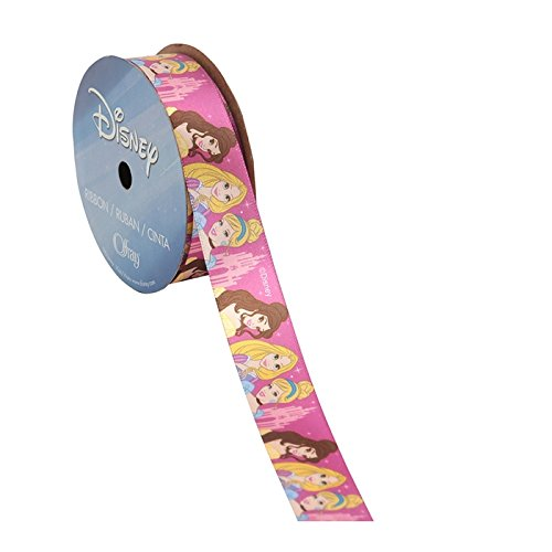 (Offray Disney Princesses Castle Craft Ribbon, 7/8-Inch by 9-Feet, Pink)