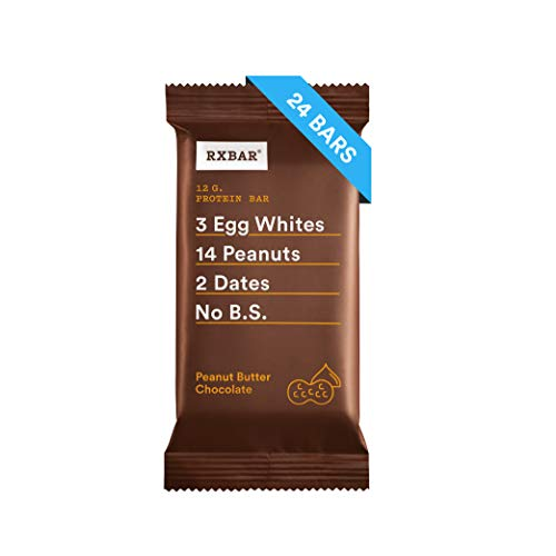 RXBAR, Peanut Butter Chocolate, Protein Bar, 1.83 Ounce (Pack of 24) Breakfast Bar, High Protein Snack