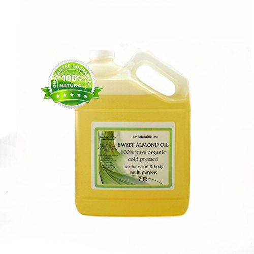 Sweet Almond Oil Pure Organic 7 Lb/1 Gallon