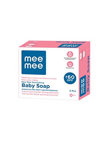 Mee Mee Nourishing Baby Soap with Almond & Milk Extracts 75g (Pack of 3)