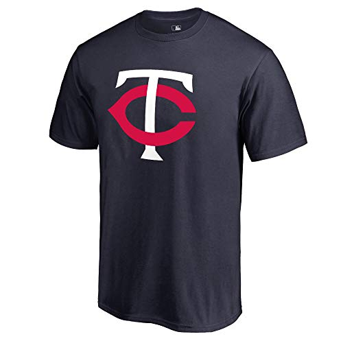 Outerstuff MLB Youth 8-20 Team Color Cool Base Polyester Performance Primary Logo T-Shirt (Medium 10/12, Minnesota Twins)